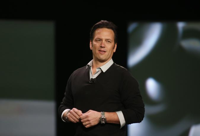 Phil Spencer, corporate vice president for Microsoft Studios, speaks during a press event unveiling Microsoft's new Xbox in Redmond, Washington May 21, 2013.  REUTERS/Nick Adams  (UNITED STATES - Tags: SCIENCE TECHNOLOGY ENTERTAINMENT)