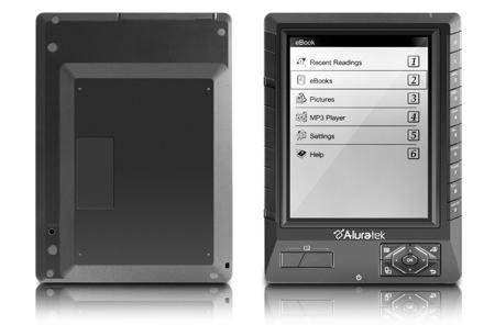 Aluratek Libre eBook Reader PRO sports monochrome reflective LCD, $179 pricetag