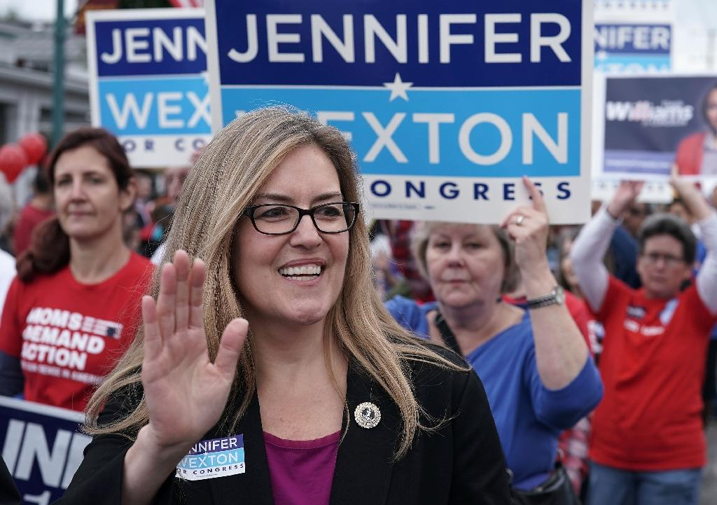 Jennifer Wexton, a Democratic state lawmaker, came out ahead of two-term Republican incumbent Barbara Comstock in their suburban northern Virginia district that Hillary Clinton won in 2016 (AFP Photo/ALEX WONG)