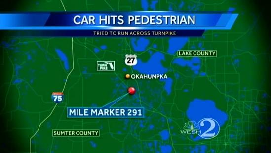 Car hits 'Felony Lane' suspect on Turnpike