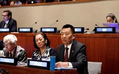 Xiamen Airlines Chairman Zhao Dong addresses High-Level Political Forum on Sustainable Development at the United Nations