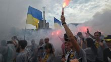Ukraine veterans march to mark Independence Day