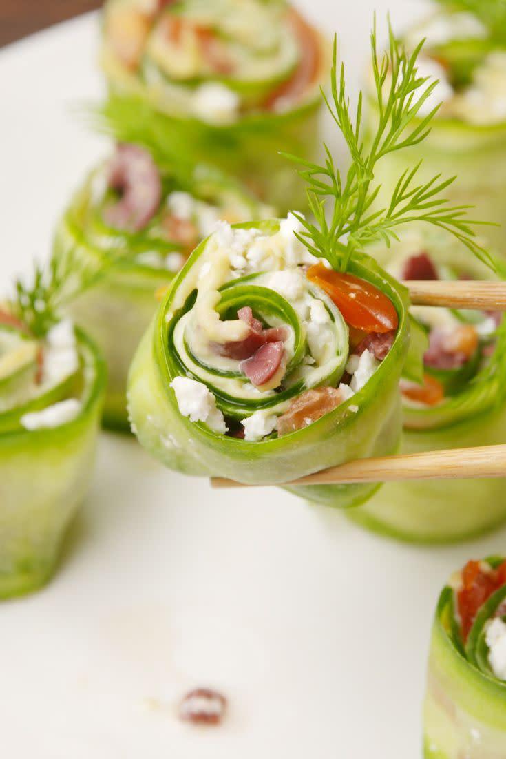 "<p>Get your chopsticks ready!</p><p>Get the recipe from <a href=""https://www.delish.com/cooking/recipe-ideas/recipes/a57729/greek-sushi-recipe/"" rel=""nofollow noopener"" target=""_blank"" data-ylk=""slk:Delish"" class=""link rapid-noclick-resp"">Delish</a>.</p><p><strong><a class=""link rapid-noclick-resp"" href=""https://www.amazon.com/OXO-Good-Grips-Y-Peeler/dp/B00004OCIU?tag=syn-yahoo-20&ascsubtag=%5Bartid%7C1782.g.1432%5Bsrc%7Cyahoo-us"" rel=""nofollow noopener"" target=""_blank"" data-ylk=""slk:BUY NOW"">BUY NOW</a><em> Vegetable Peeler, $10, amazon.com</em></strong></p>"