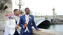 This Parisian Wedding Is What Dreams Are Made Of - but 1 Groom's Regal Cape Stole the Show