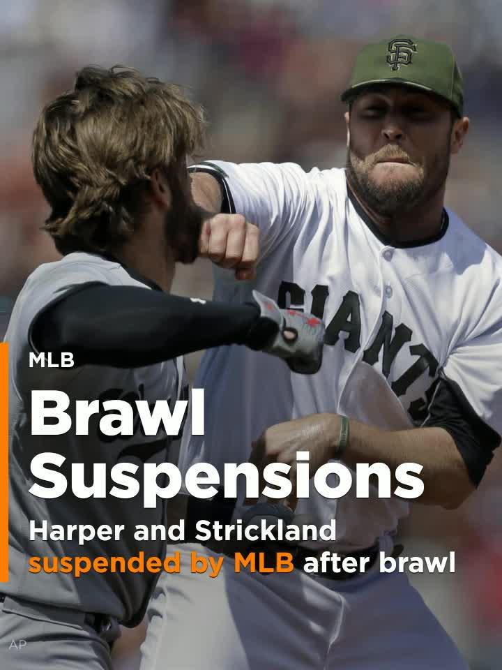 Bryce Harper and Hunter Strickland suspended by MLB after ...
