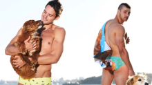Custom swimwear with your pet's picture now exists