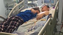Moment teen hugs boyfriend as his life support is switched off