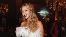 Beyoncé Wore a Feathered 'Great Gatsby'-Inspired Look to a Gala