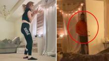 TikTok shows horrifying moment 'stalker' breaks into woman's home
