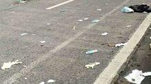 Ew, Gross: Health Dep't stresses safe trash disposal after used PPEs litter Edsa