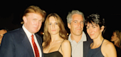 Donald and Melania Trump with Jeffrey Epstein and Ghislaine Maxwell (Getty)
