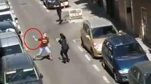 VÍDEO | Un hombre intenta apuñalar a varios policías en Madrid
