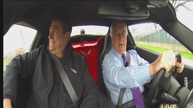 Prime Time Prix View; Riding around the track with Roger Penske