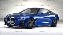 BMW 4er (2020) Rendering zeigt den großen Grill