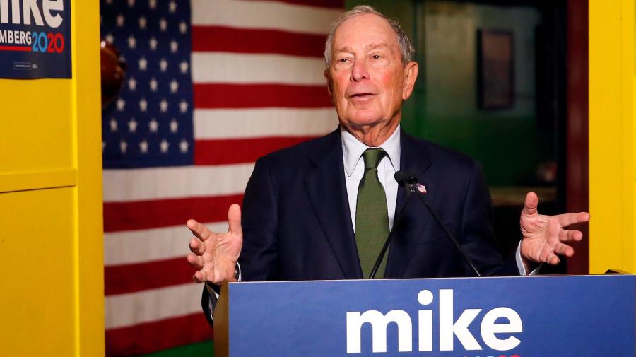 Poll: Bloomberg debuts in top 5, Biden leads