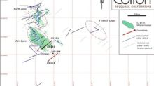 Colibri Resource Corporation - Intersects 9 metres with an average grade of 8.16 grams/tonne Au