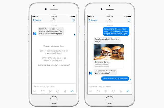 Facebook 'M' makes Messenger your personal assistant