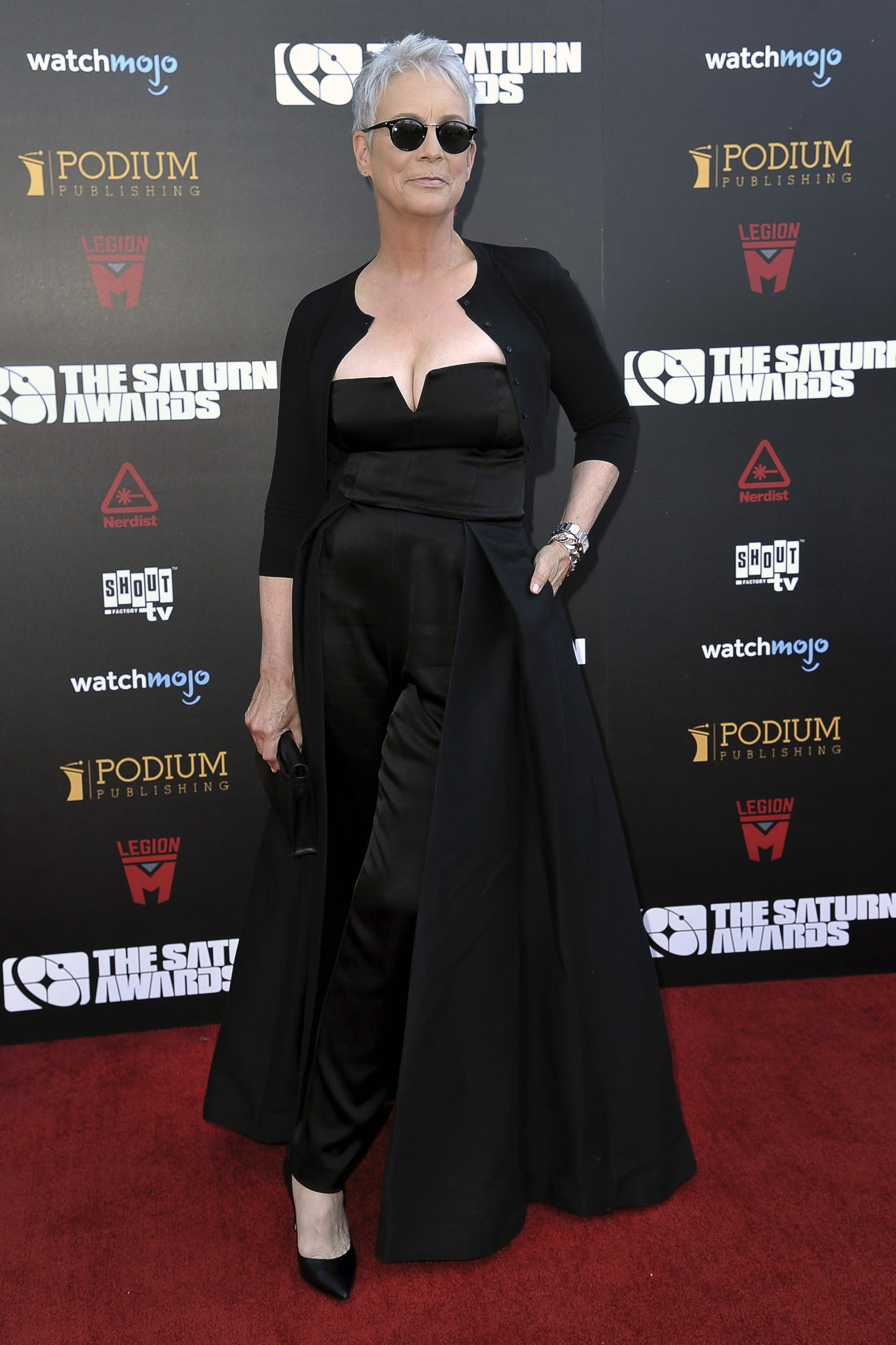 Jamie Lee Curtis attends the 45th Annual Saturn Awards at the Avalon Hollywood on Friday, Sept. 13, 2019, in Los Angeles. (Photo by Richard Shotwell/Invision/AP