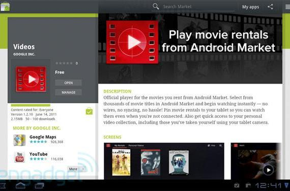 Motorola's WiFi Xoom gains access to Google Movies, just in time for the weekend