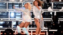 Coachella 2018: Beyoncé fell on stage with sister Solange and then laughed it off