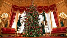 First look at the Queen's 15ft and 20ft Christmas trees at Windsor Castle