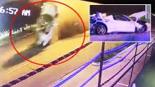 Boxing world champion charged by police after flipping $300,000 Ferrari