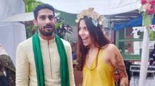Prateik Babbar and Sanya Sagar Look Radiant at Mehendi Ceremony
