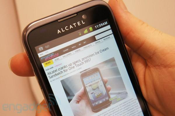 Alcatel OneTouch 995 hands-on