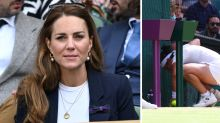 Kate Middleton confronted by player's disturbing action at Wimbledon