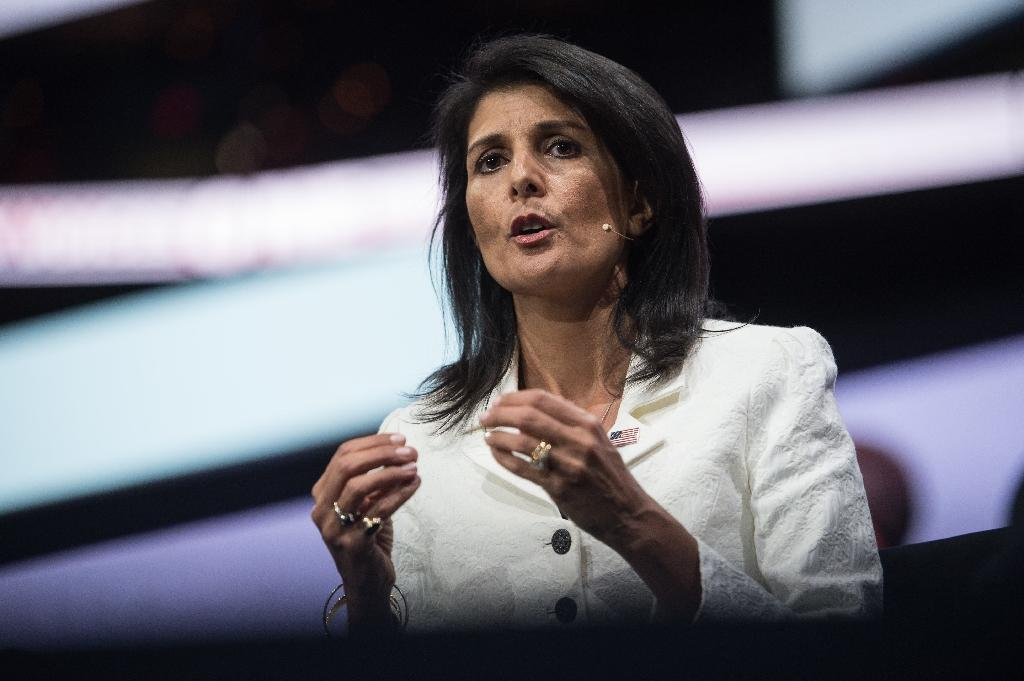 US Ambassador to the United Nations Nikki Haley said she would focus on ways to remove the influence of Assad's ally Iran (AFP Photo/NICHOLAS KAMM)