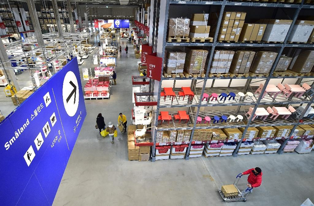 Ikea's affordable flat-pack business model has been criticised as contributing to over-consumption and waste (AFP Photo/JUNG YEON-JE)