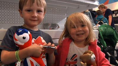 Olympic mascot, souvenirs are a hit with kids