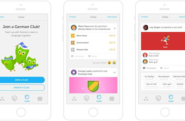 Duolingo's clubs make language learning a competition