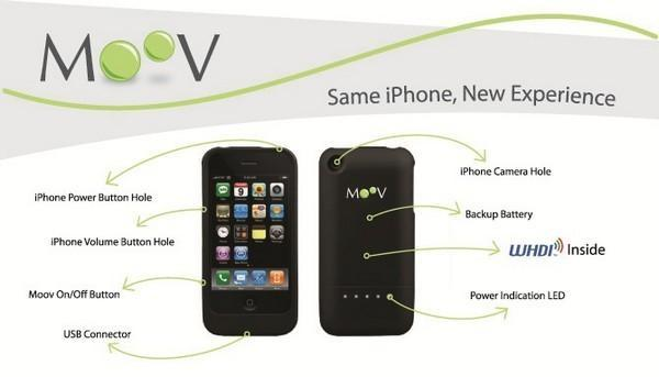 Olion's Moov caught on video beaming an iPhone to a TV using a little WHDI and a lot of magic