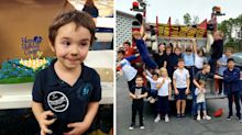 Firefighters' kind-hearted gesture for boy after one friend shows up for his birthday party