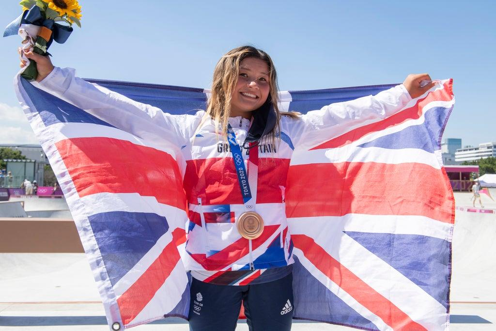 Sky Brown: Skateboarder, 13, becomes Team GB's youngest Olympic medallist with park bronze