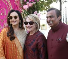 VIPs arrive at pre-wedding bash for daughter of India's richest man