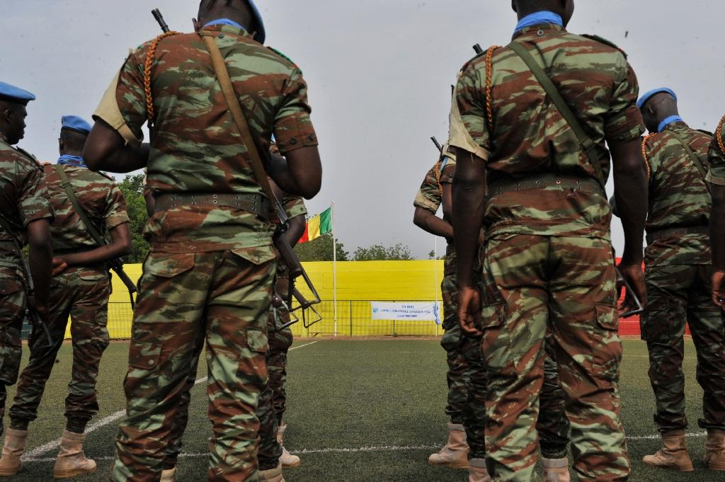 Five Chadian UN peacekeepers were killed in the ambush in northeast Mali on May 18 and a sixth died of his wounds on May 24, according to the latest toll from the UN mission in Mali (MINUSMA) (AFP Photo/Habibou Kouyate)