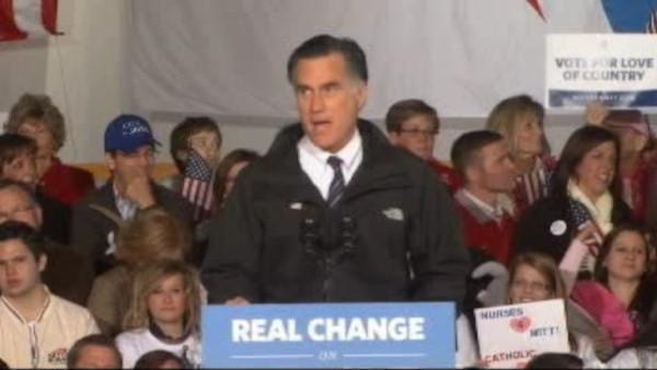 Romney voted, continues to campaign
