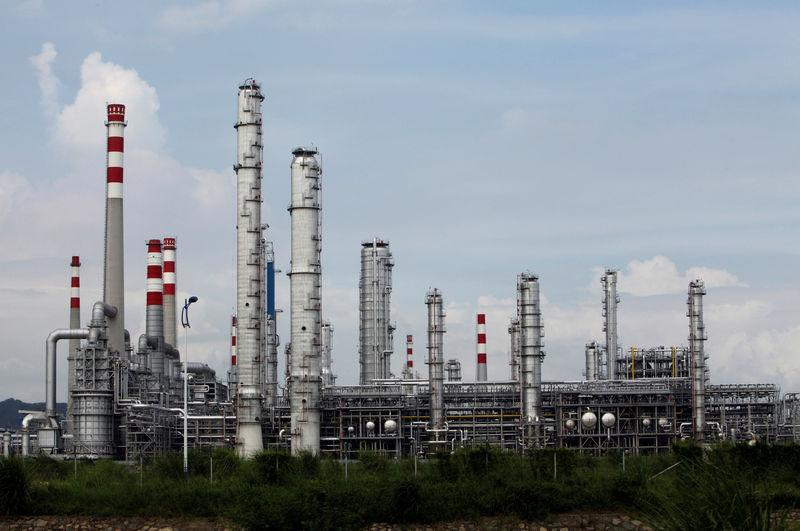 FILE PHOTO: CNOOC oil refinery is seen in Huizhou