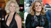 "Britney Spears Fangirls Over Adele & Dances To ""Hello"""