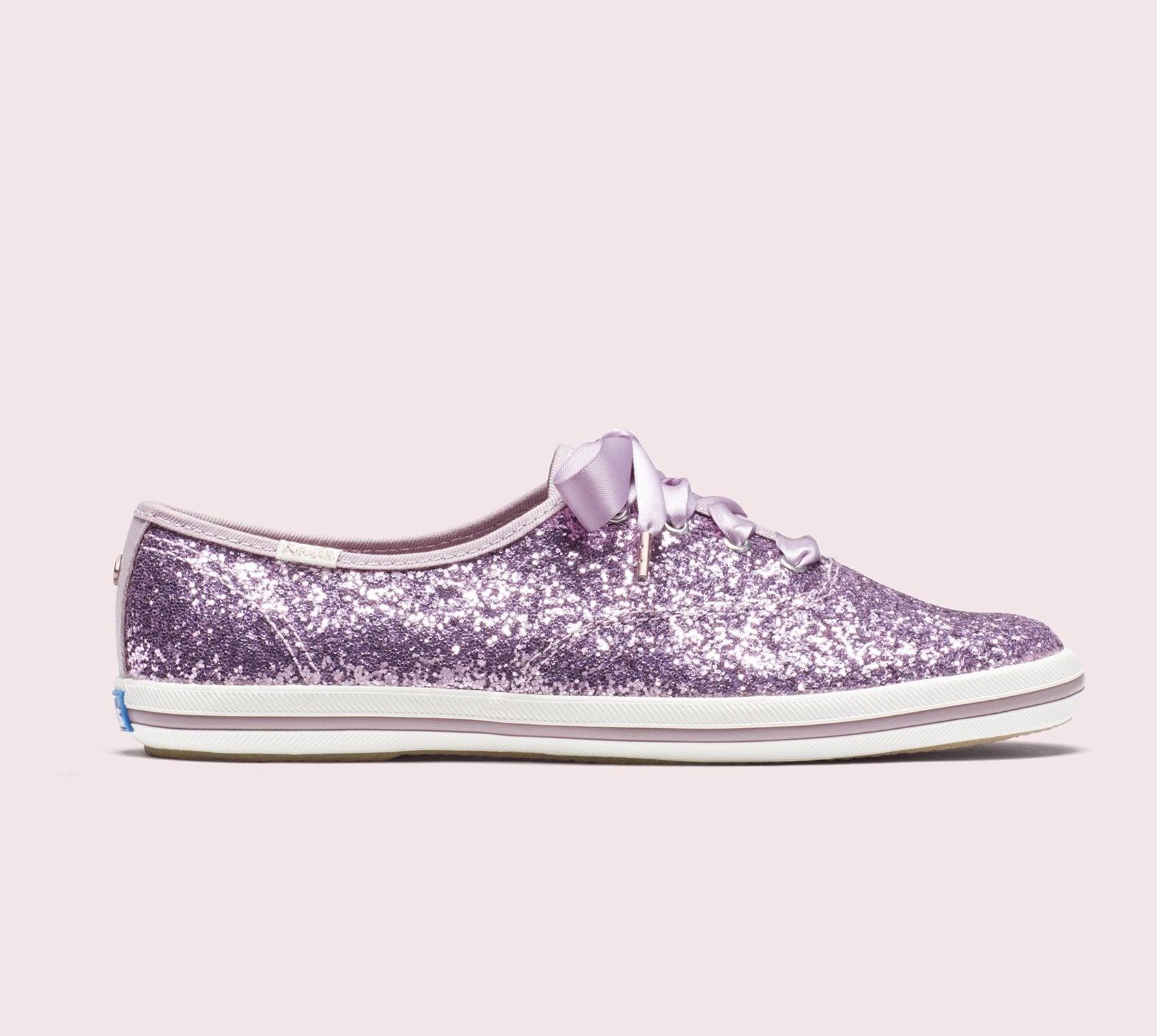b7a30baa156 Keds x Kate Spade NY Released Lavender Glitter Sneakers