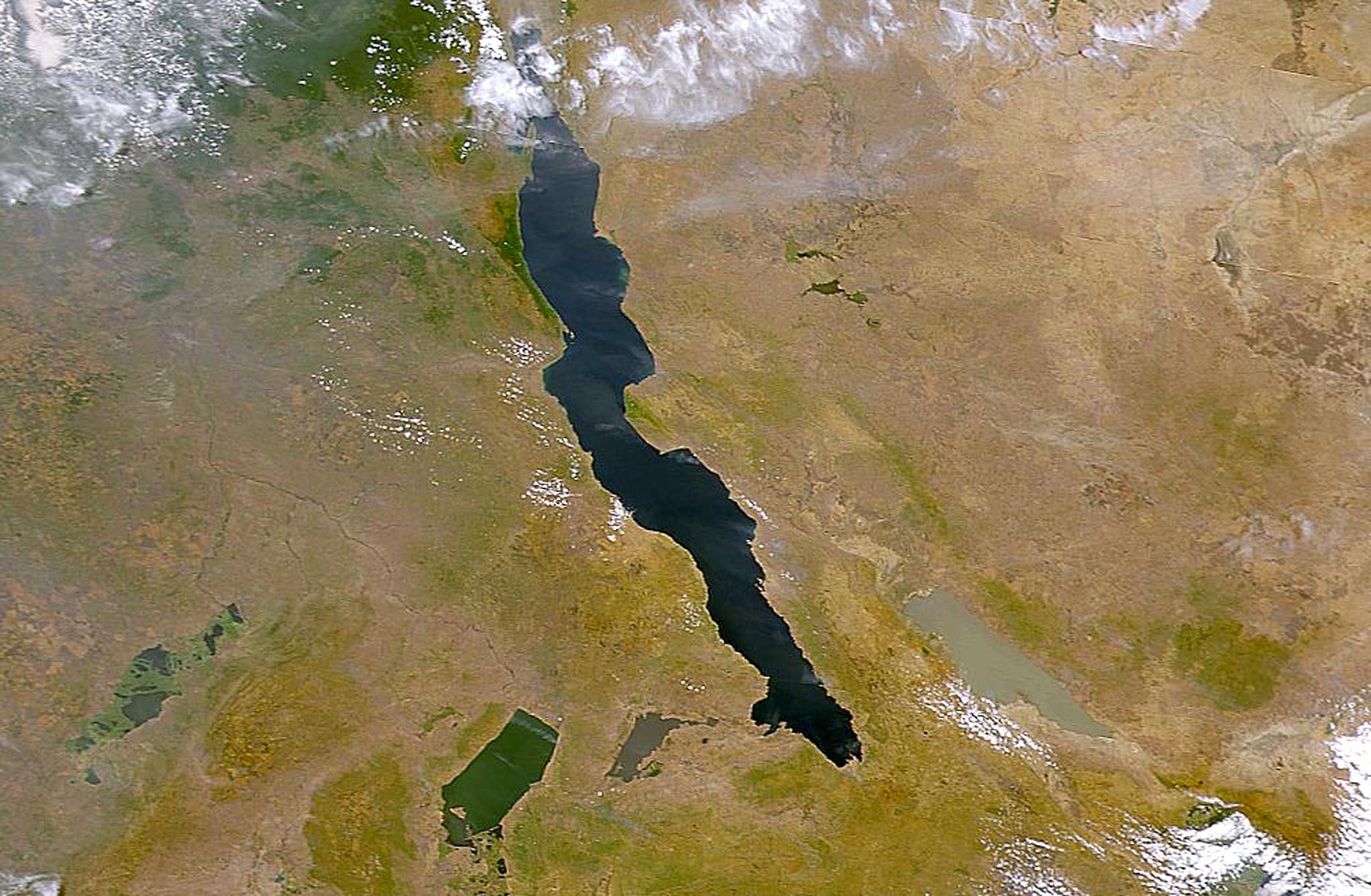 A NASA satellite file image of Lake Tanganyika, the longest freshwater lake in the world, bordering DR Congo, Tanzania, Burundi and Zambia (AFP Photo/Nasa)