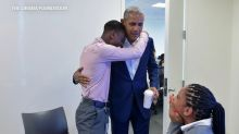 Former President Barack Obama surprises students in Chicago