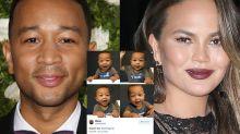 Chrissy Teigen responds to people tweeting pics of John Legend lookalike babies at her