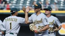 A's rookies make history with trio of first career home runs