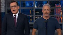 Jon Stewart visits 'Late Show' to defend President Trump but fails splendidly