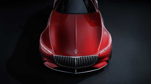Mercedes-Maybach Unveils a Gullwing Vision of a Coupe