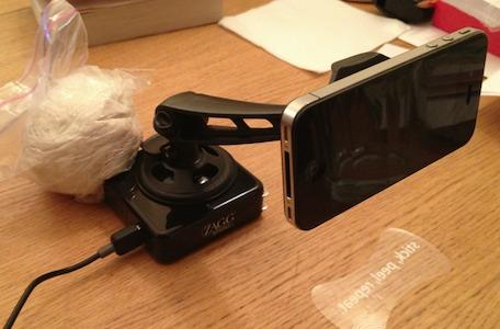 My cheap, simple livestreaming rig: iPhone, Ustream, Zagg and Clingo