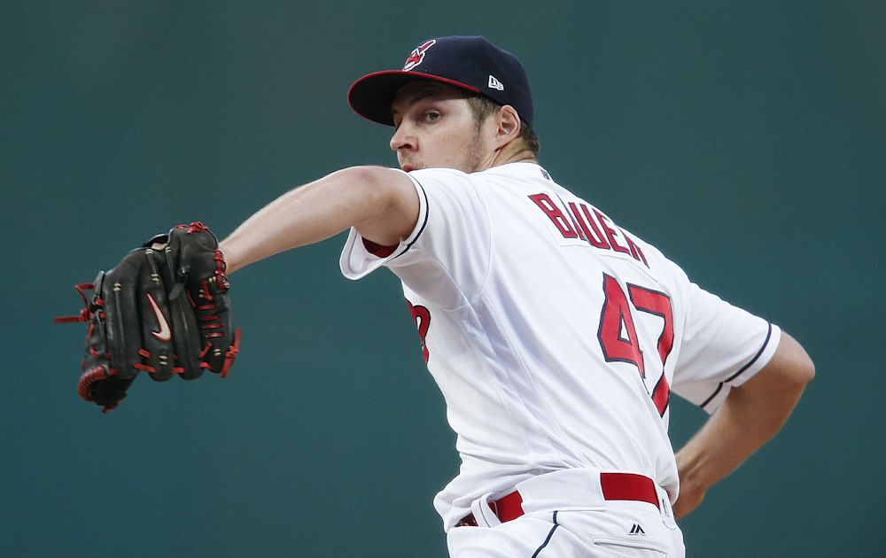 Indians pitcher Trevor Bauer took another painful loss to end a 22-game winning streak. (Getty Images)